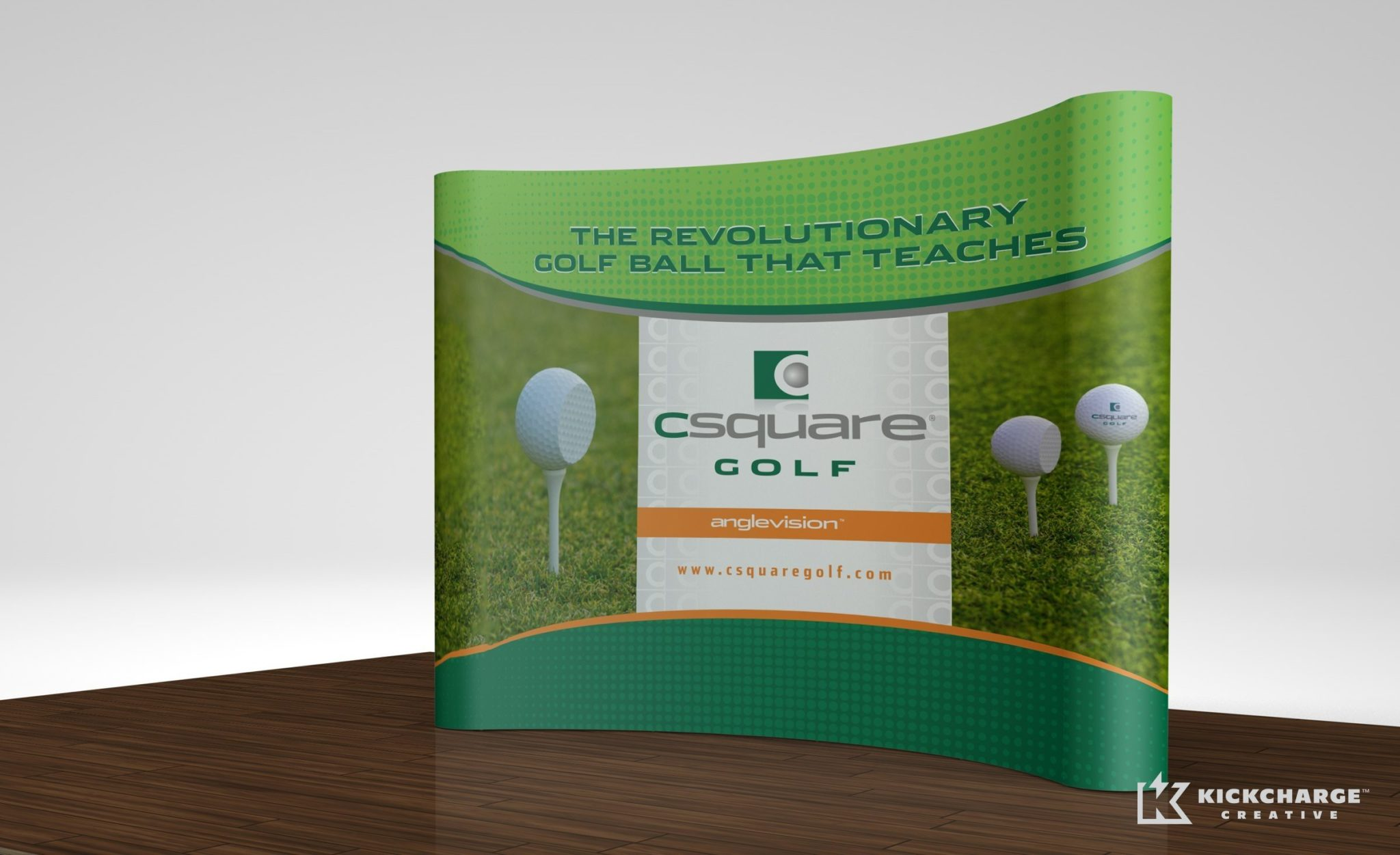 Booth design for CSquare Golf.