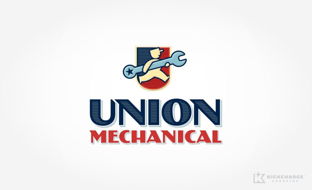 Retro themed logo design for HVAC contractor in FL.