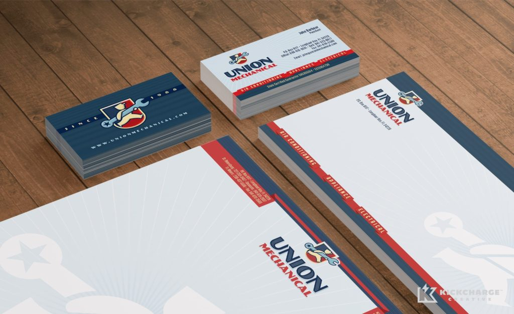 Stationery design and printing for Union Mechanical.