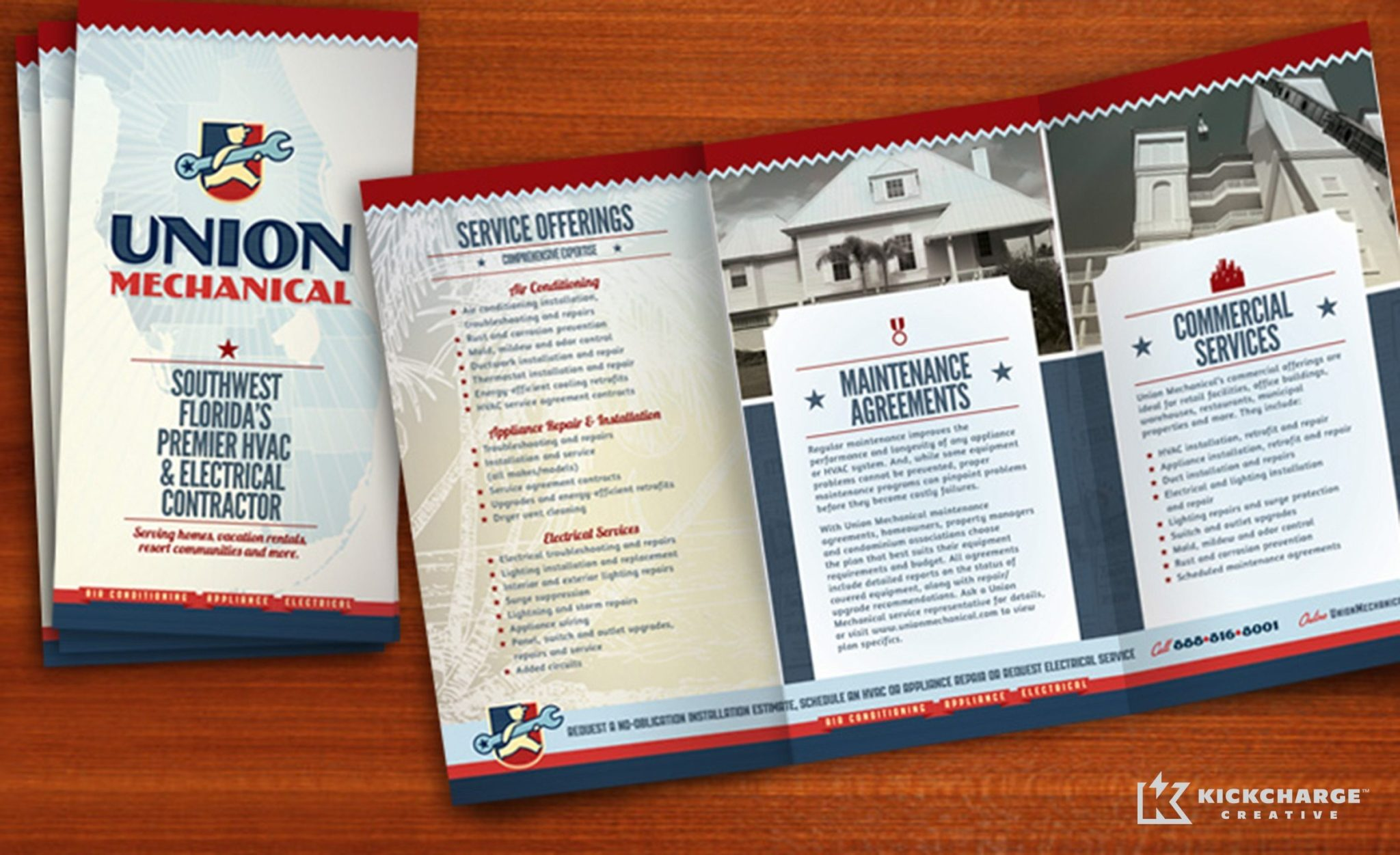 Brochure design for Union Mechanical.