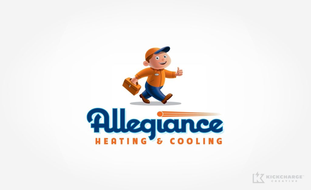 A playful logo design for a serious heating and cooling company near Chicago.