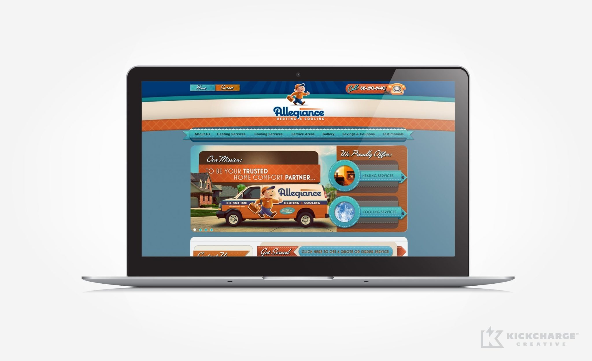 Website design and development for Allegiance.