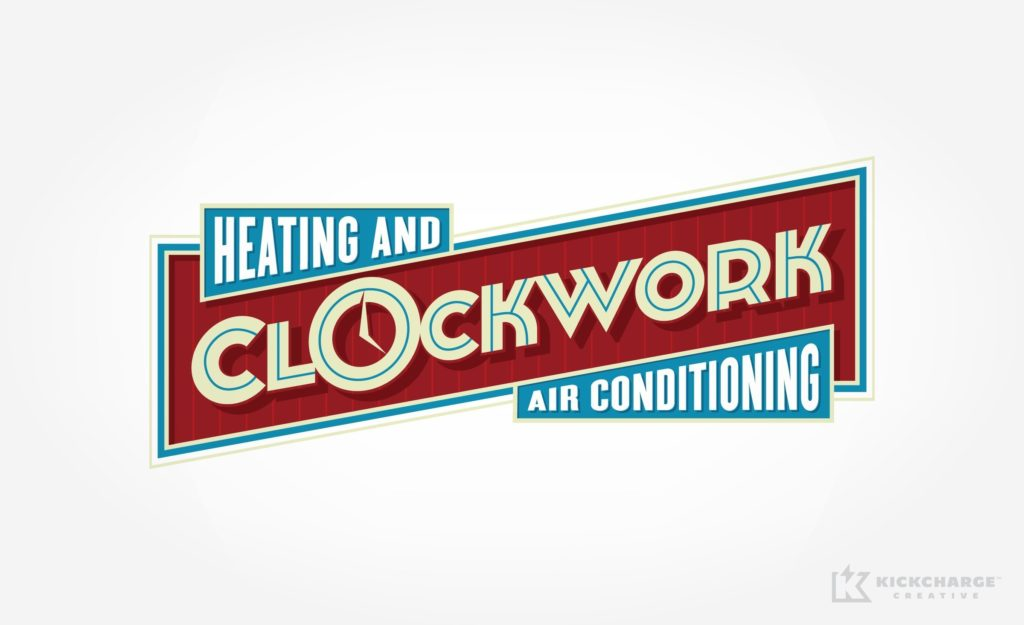 Retro themed logo design for HVAC contractor in Georgia.