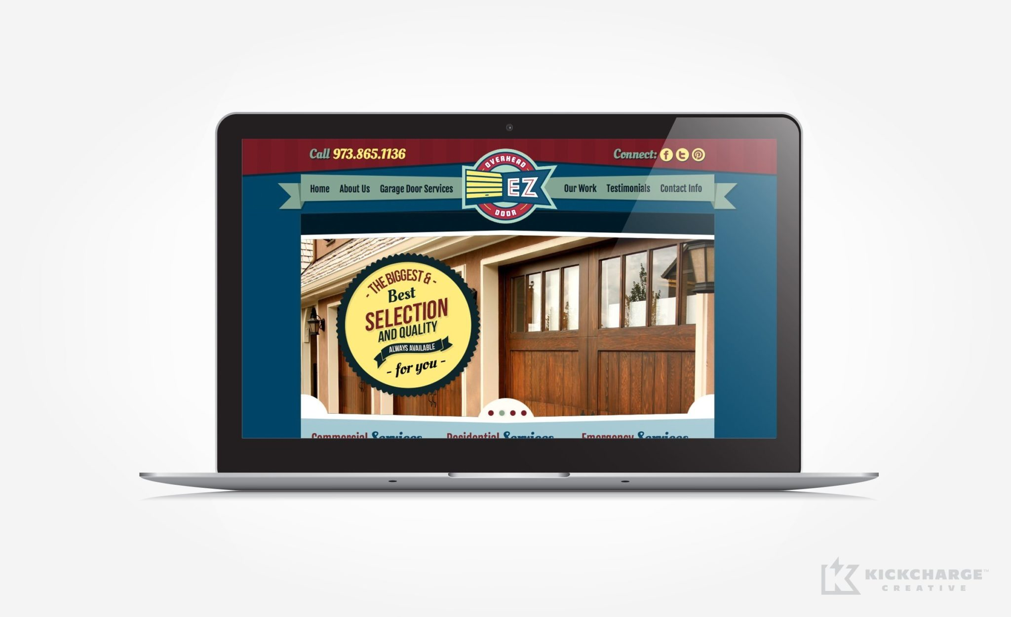 Website development and design for EZ Overhead Door.