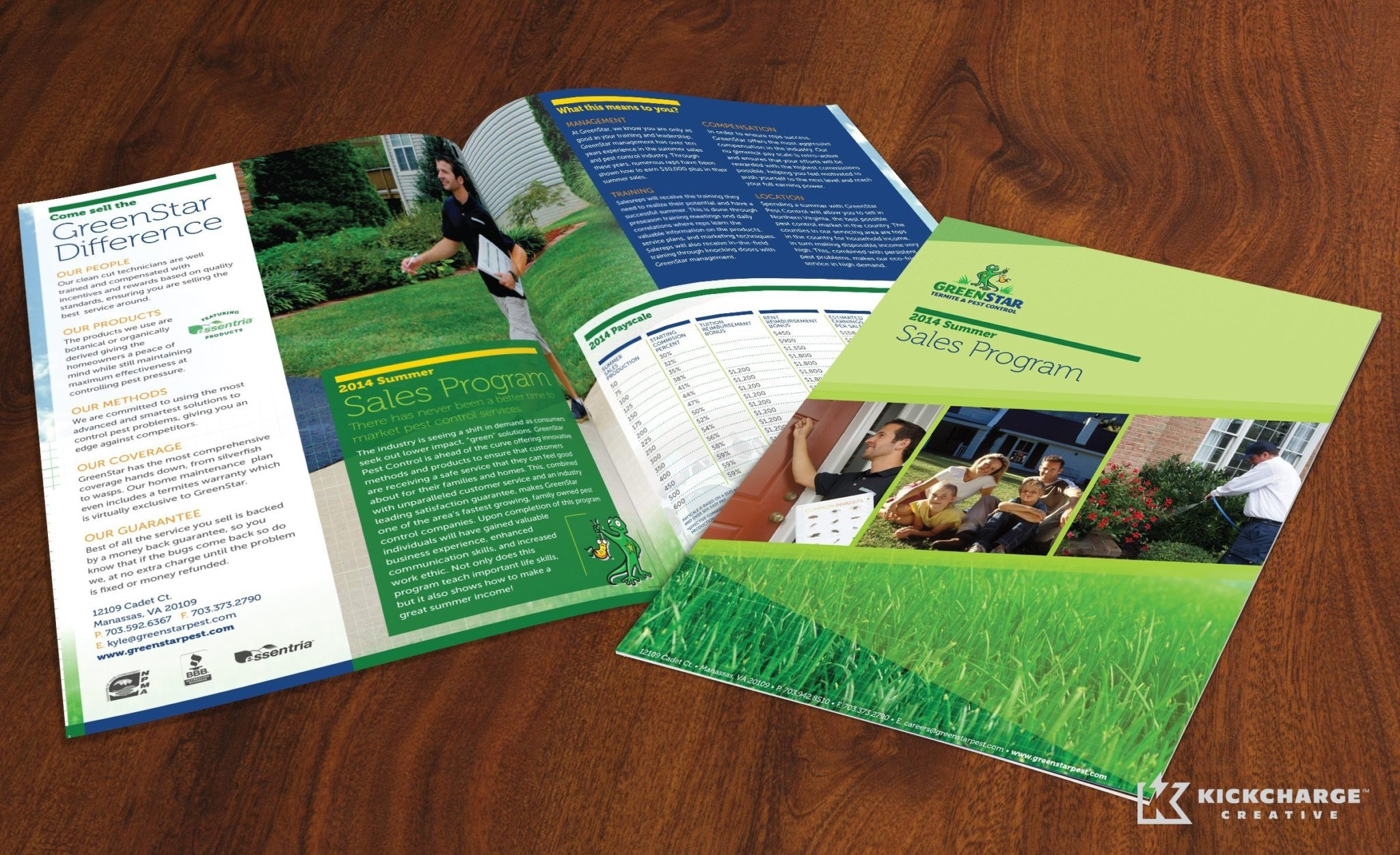 Collateral and brochure design, copywriting and printing for GreenStar Pest Control.