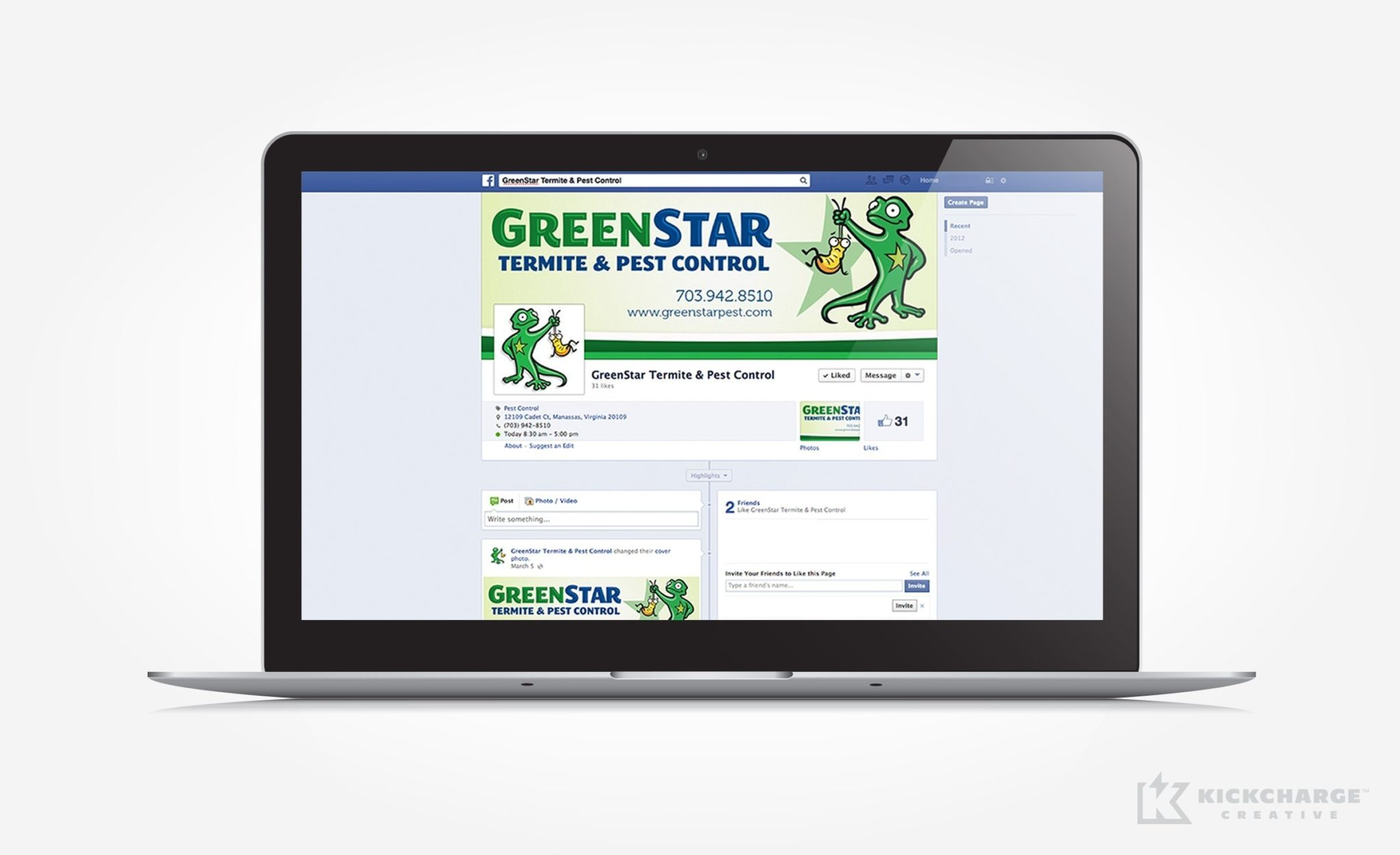 Social media design for GreenStar Pest Control.