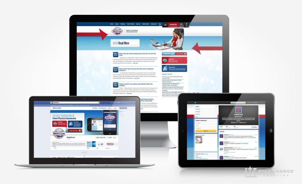Website design for Giffen Solutions, Inc. - MedXcom
