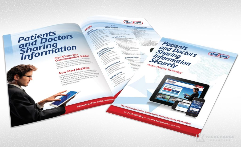 Collateral and brochure design, copywriting and printing for Giffen Solutions, Inc. - MedXcom.