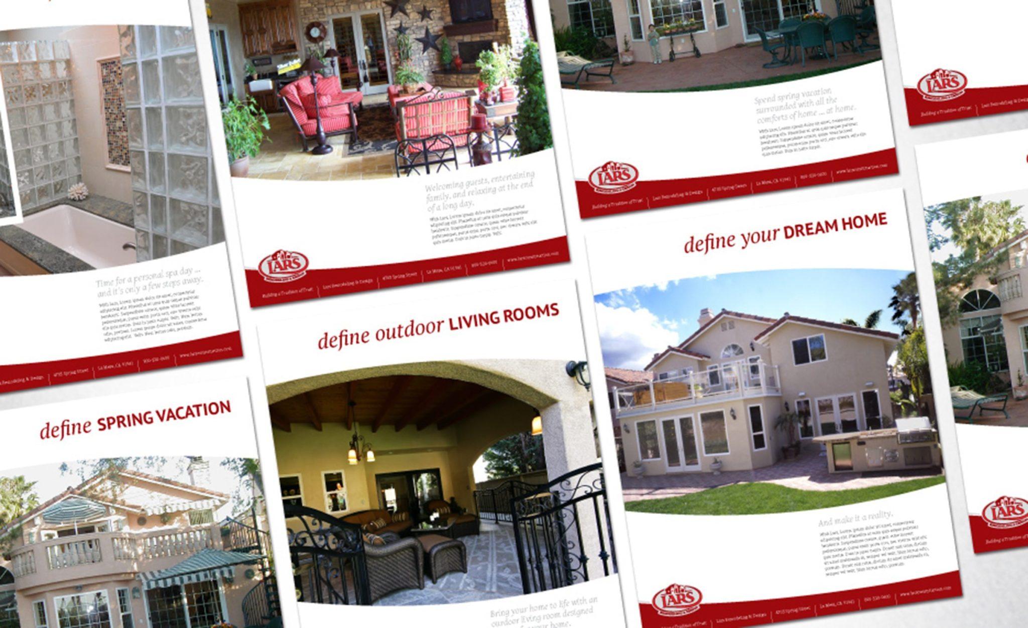 Print ad design for Lars Remodeling & Design.