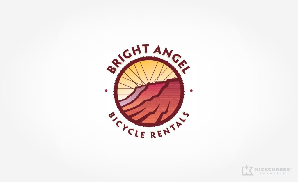 Logo and web design for a company that offers bicycle rentals and tours in the Grand Canyon.