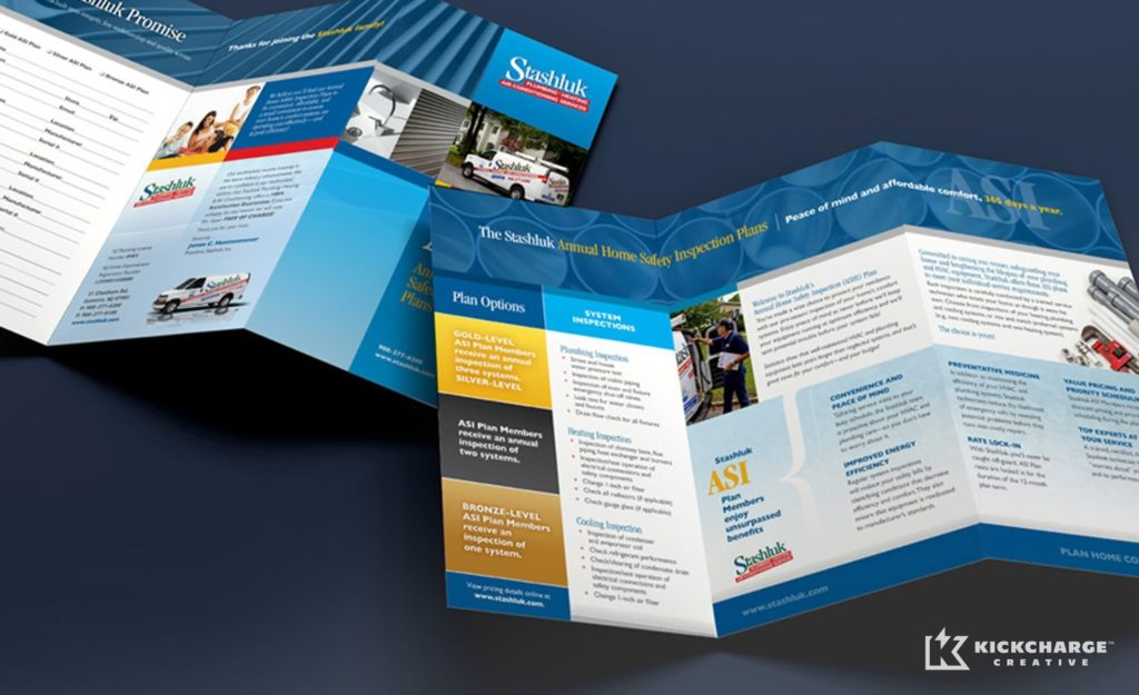 Collateral and brochure design and copywriting for Stashluk.