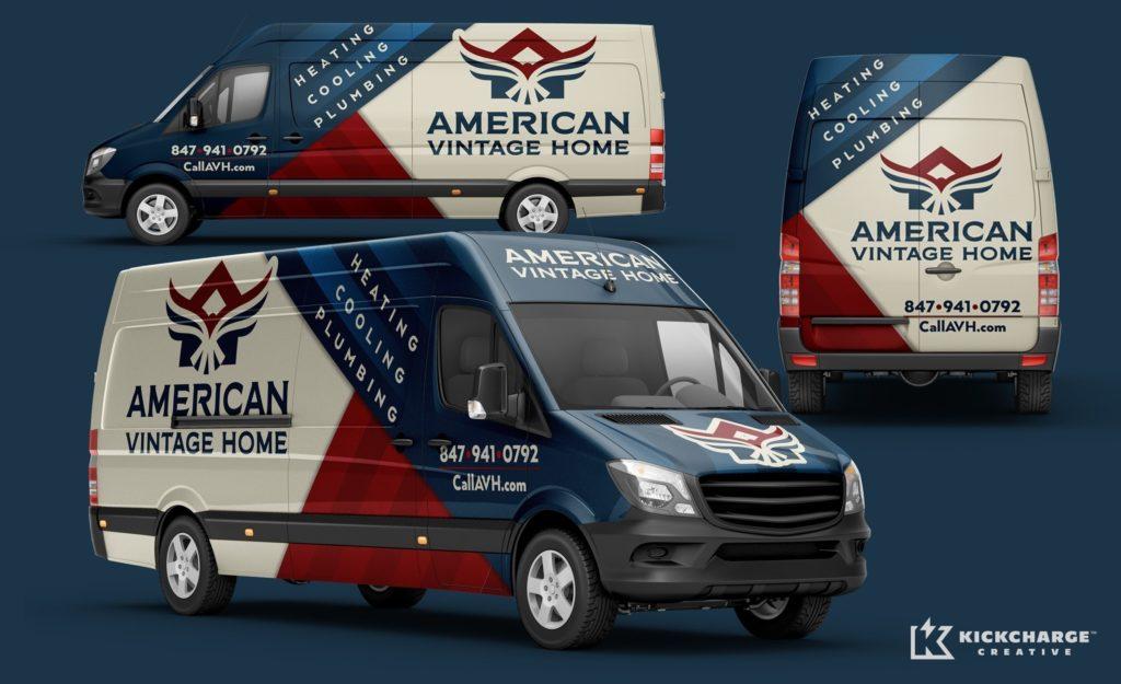 hvac truck wrap logo