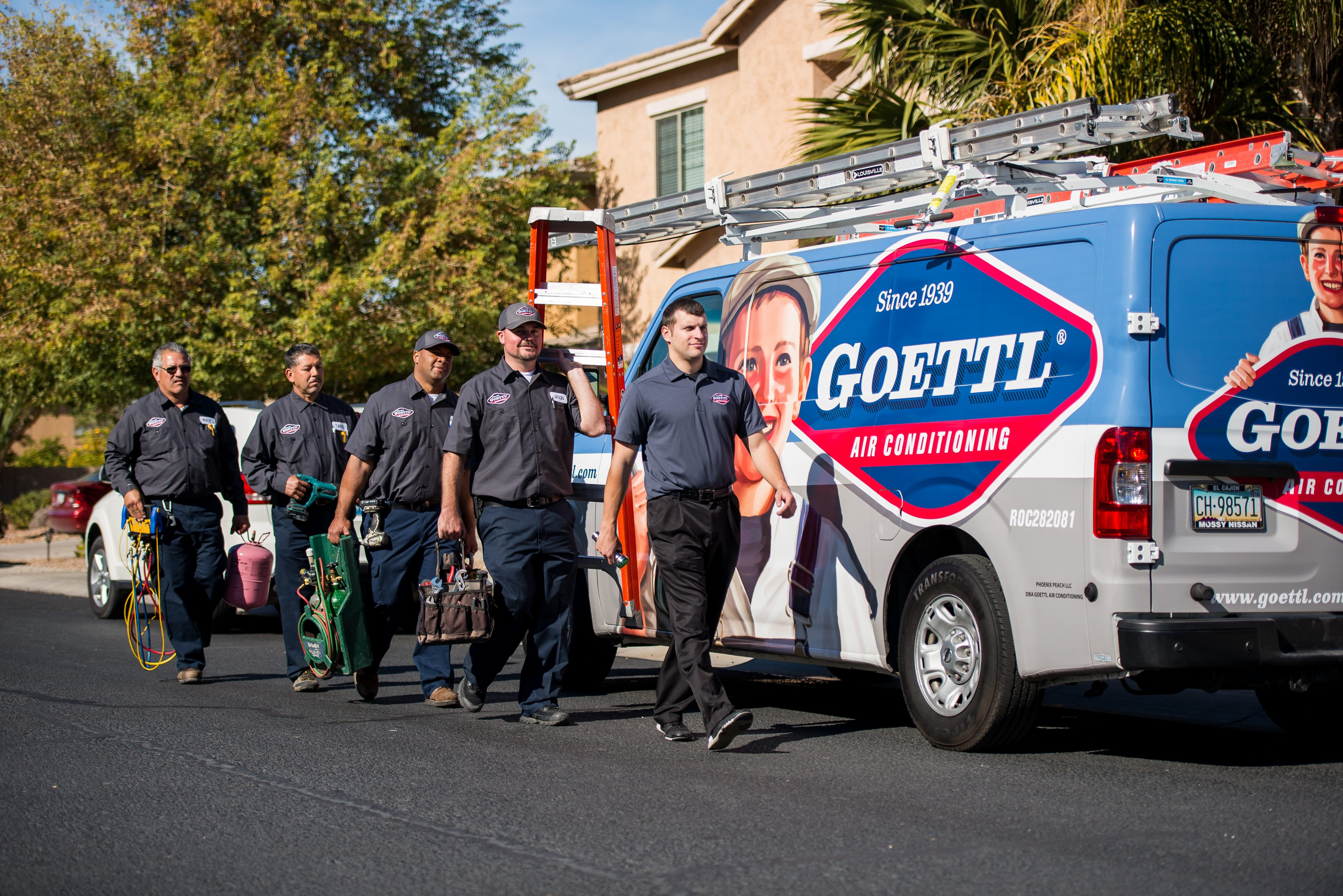 Vehicle wrap design for Goettl Air Conditioning.