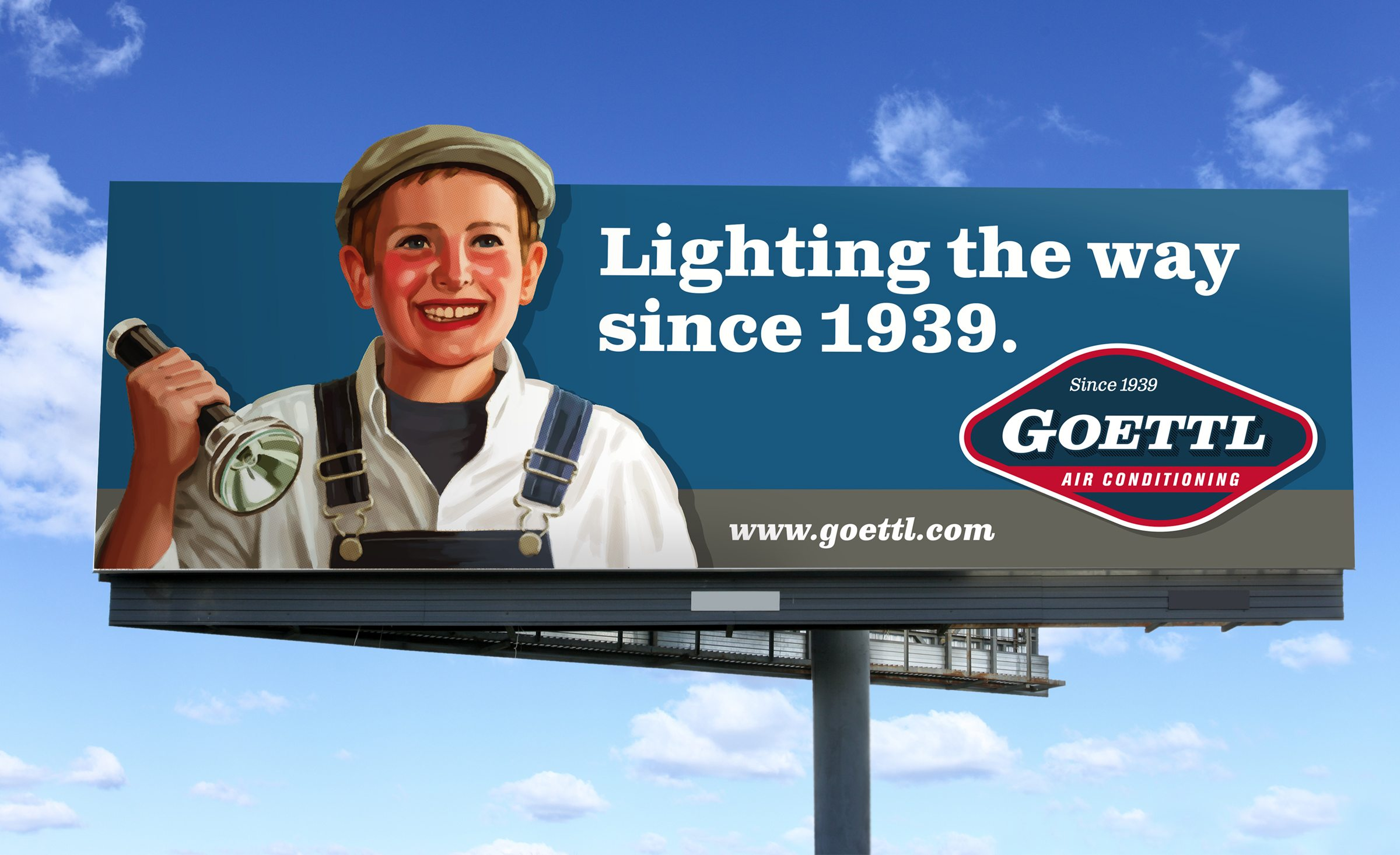 Billboard design for Goettl Air Conditioning.
