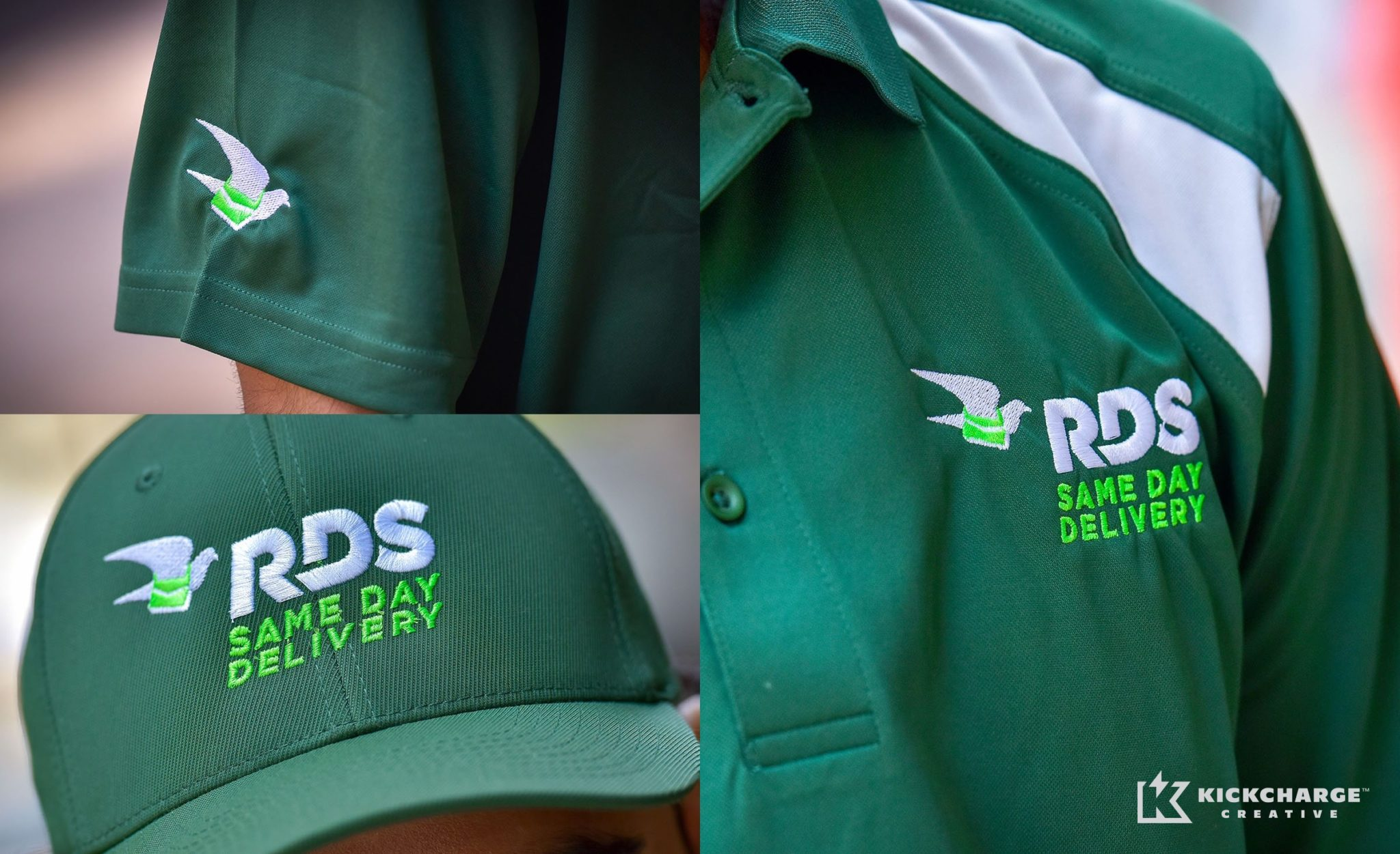 Uniform designs for RDS Same Day Delivery.