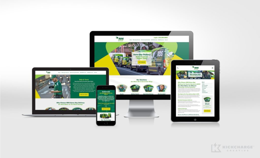 Website design and development for RDS Same Day Delivery.