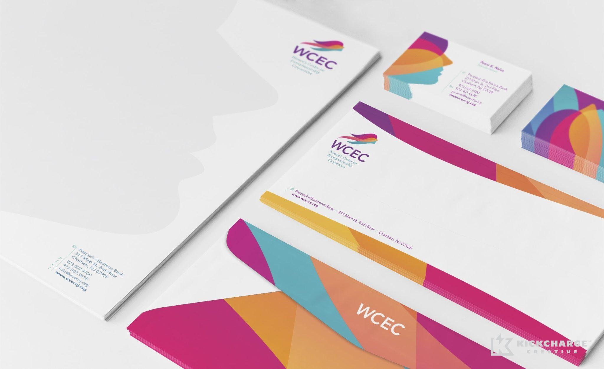 Stationery design and printing for Women's Center for Entrepreneurship Corp.
