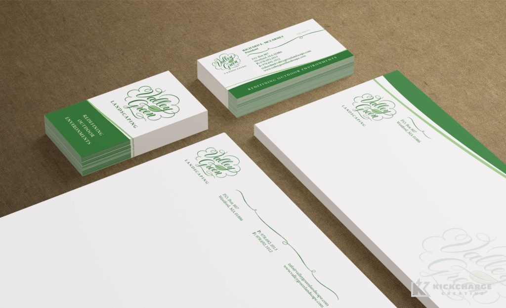 Stationery Design for Valley Green Landscaping.