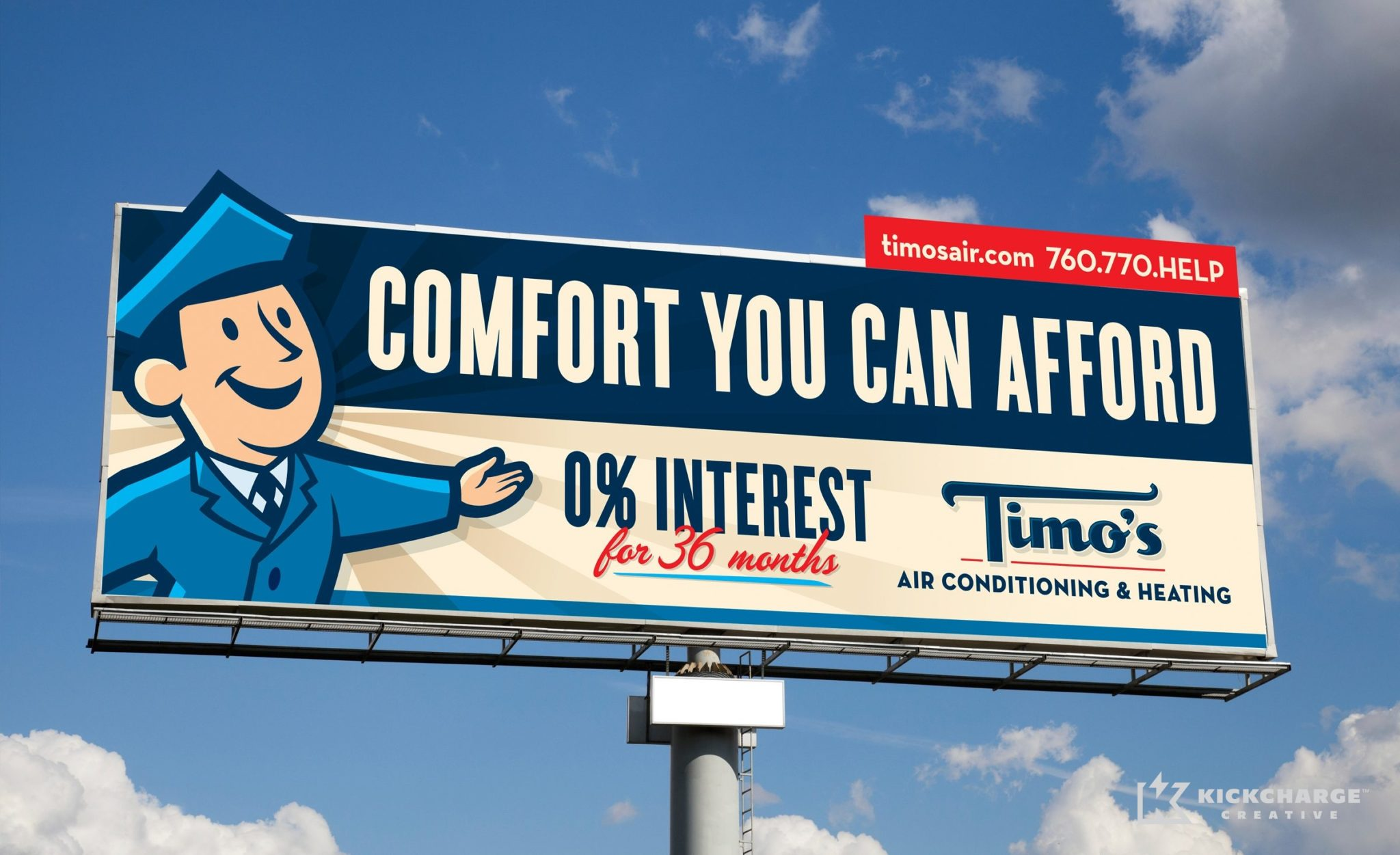 Billboard design, layout and copywriting for this CA-based HVAC contractor.
