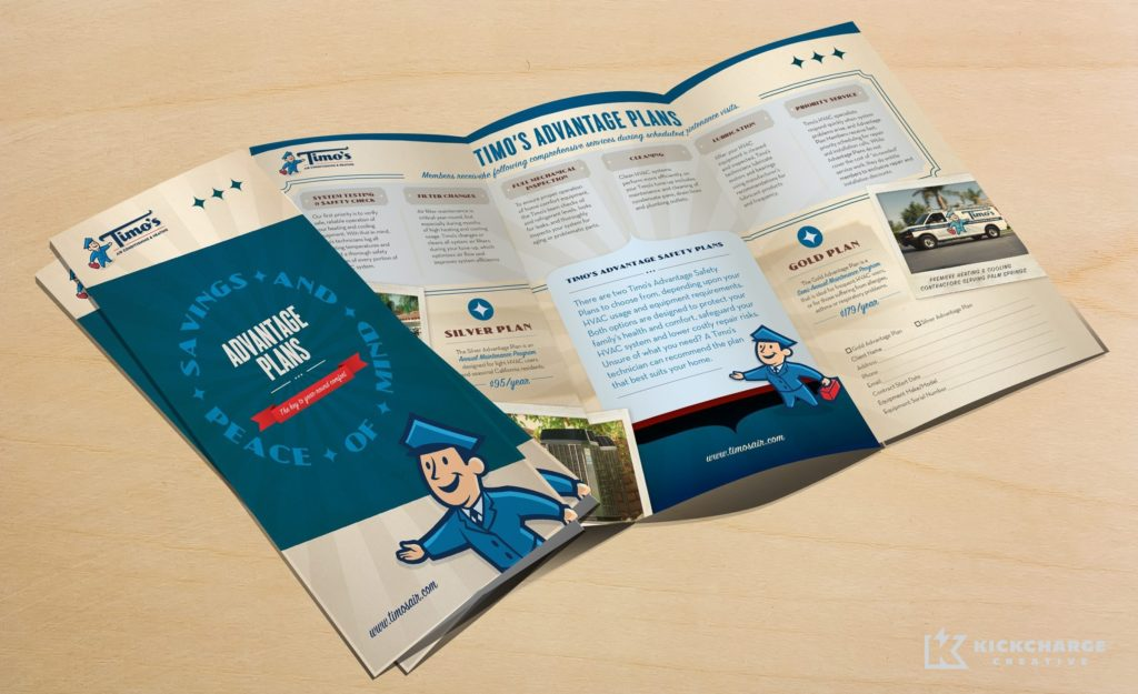 Collateral and brochure design, copywriting and printing for this service agreement brochure.