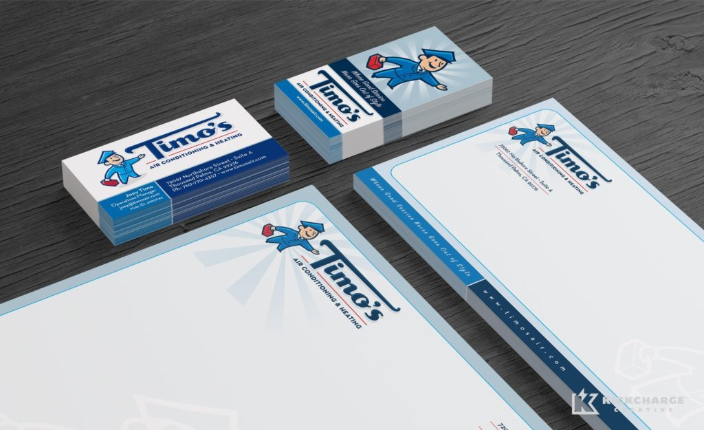 Stationery design and printing for this California-based HVAC company.