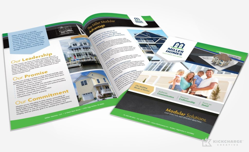 Collateral and brochure design, copywriting and printing for Miller Homes.