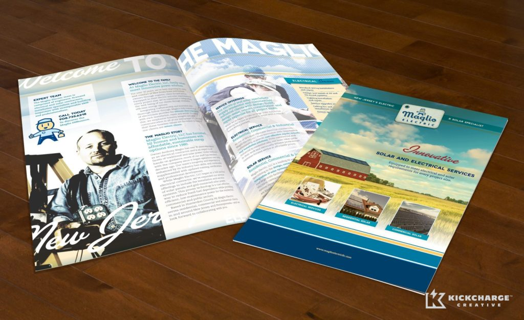 Brochure design and printing for Maglio Electric.