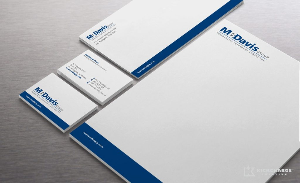 Stationery design for an insurance consultant in Mt. Arlington, NJ.