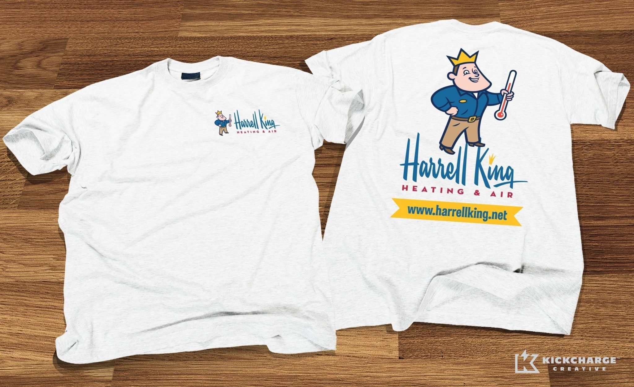 T-Shirt design for Harrell King Heating & Air.