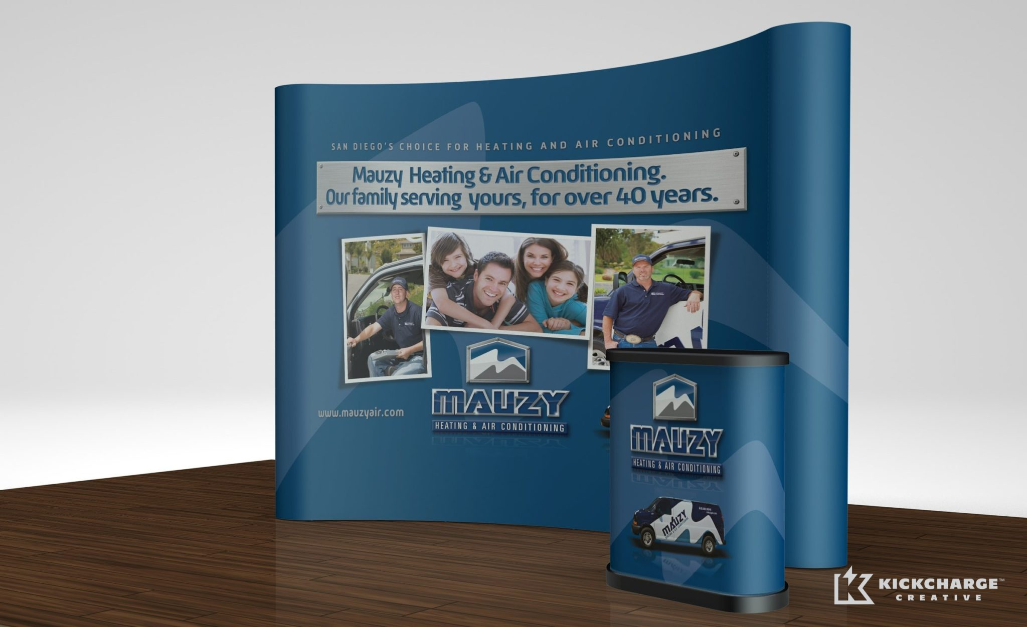 Trade show booth design for this California-based HVAC & solar company.