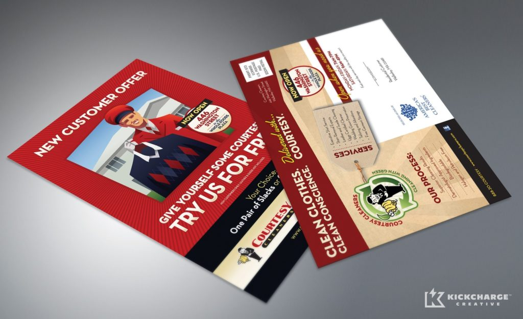 Direct mail design, printing and mailing for this premier cleaning center.