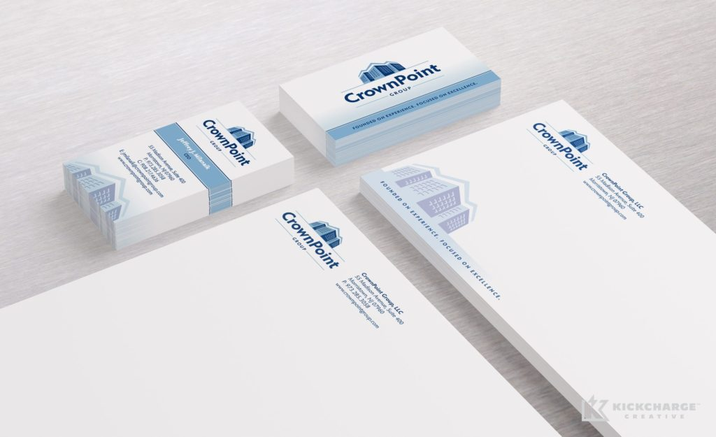 Stationery design and printing for CrownPoint Development Group.