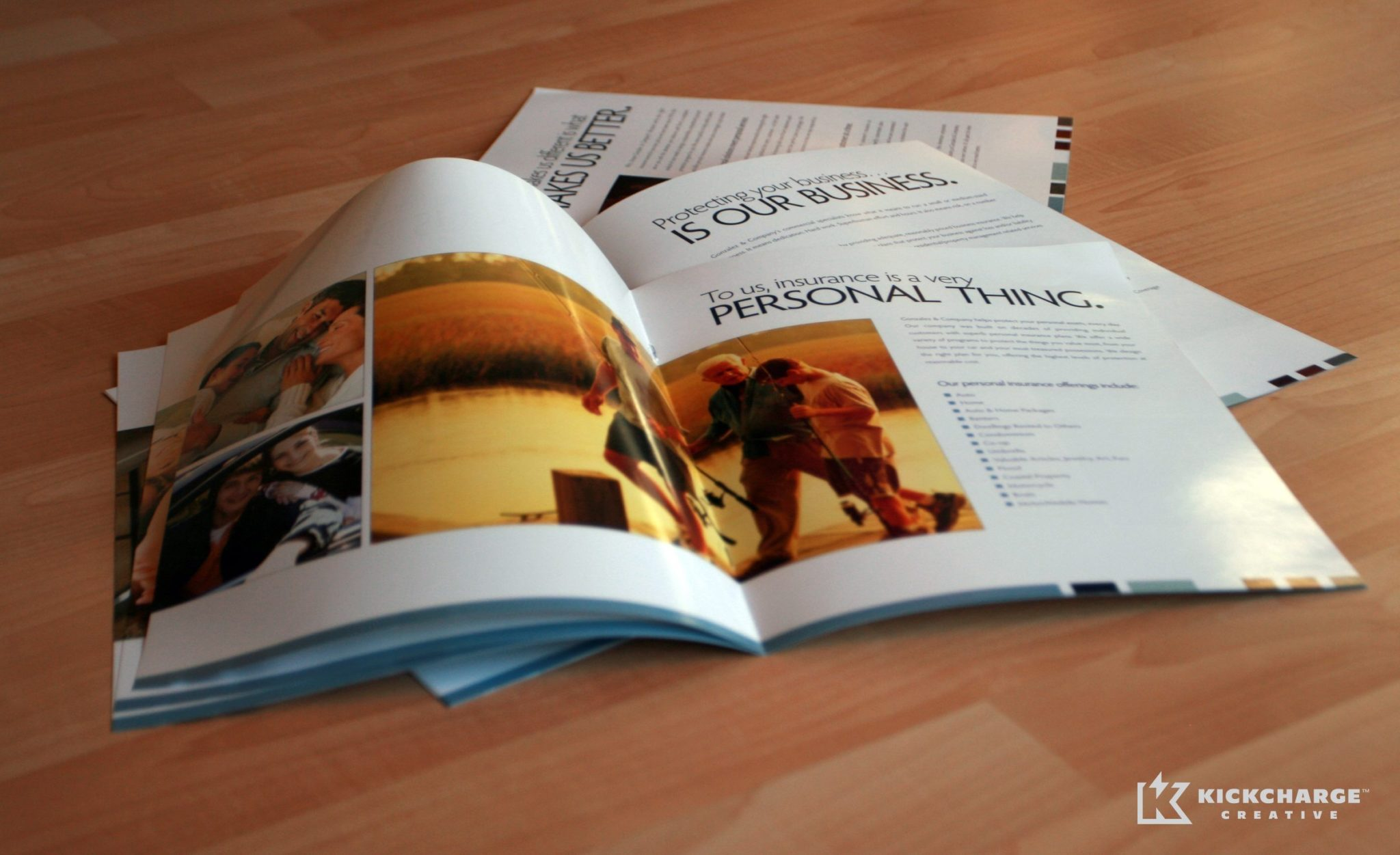 Collateral design, printing and copywriting for Gonzalez Insurance.