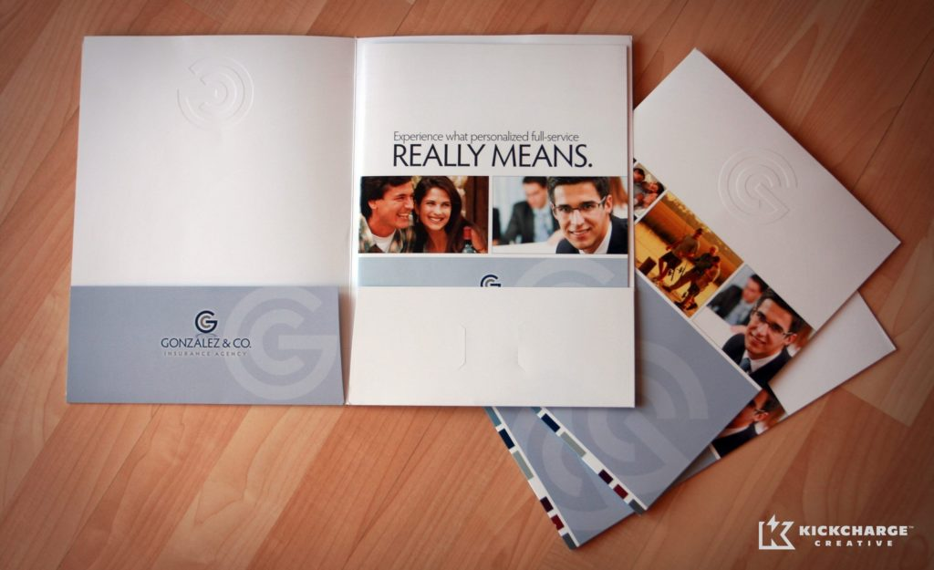 Pocket folder and collateral design, printing and copywriting created for a New Jersey and New York insurance company.