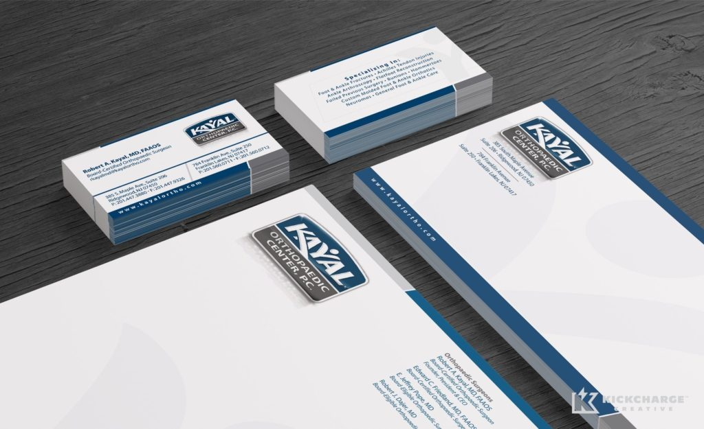 Stationery design for Kayal Orthopaedic Center.