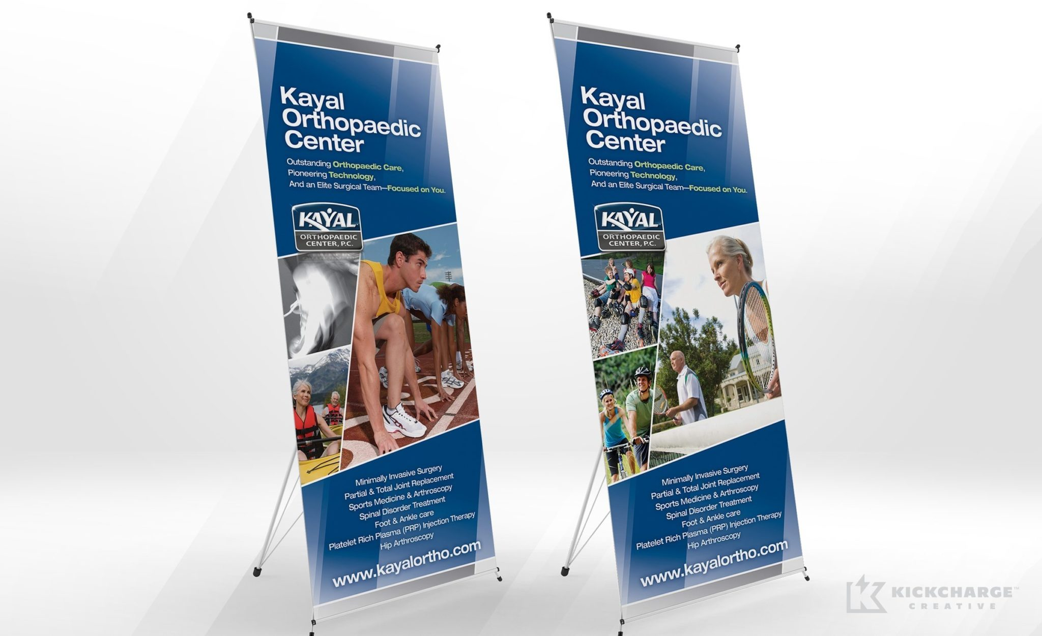 Trade show banner design for Kayal Orthopaedic Center.