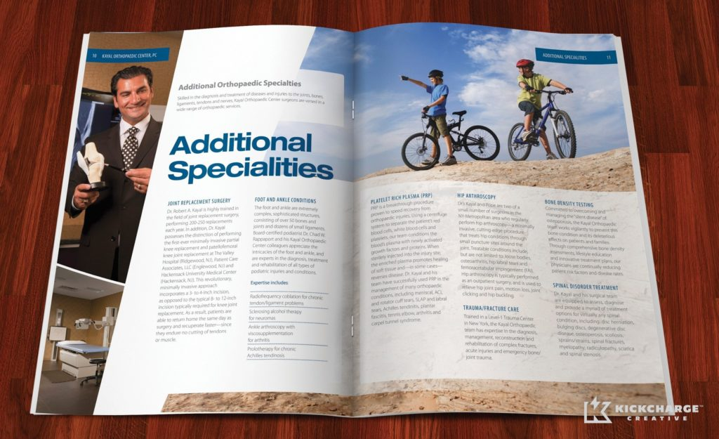 Brochure design for Kayal Orthopaedic Center.