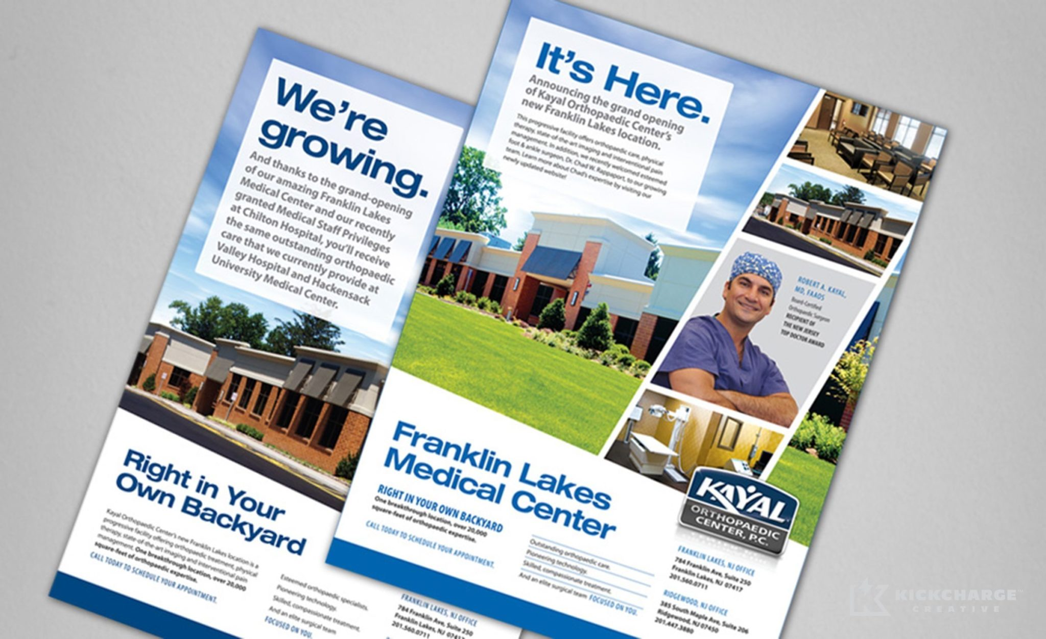 Print design for Kayal Orthopaedic Center.