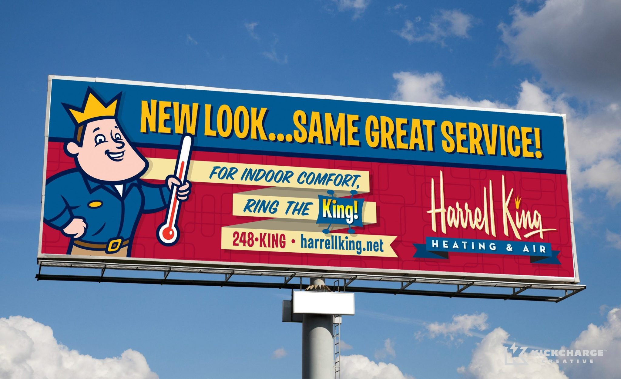 Billboard design for Harrell King Heating & Air.