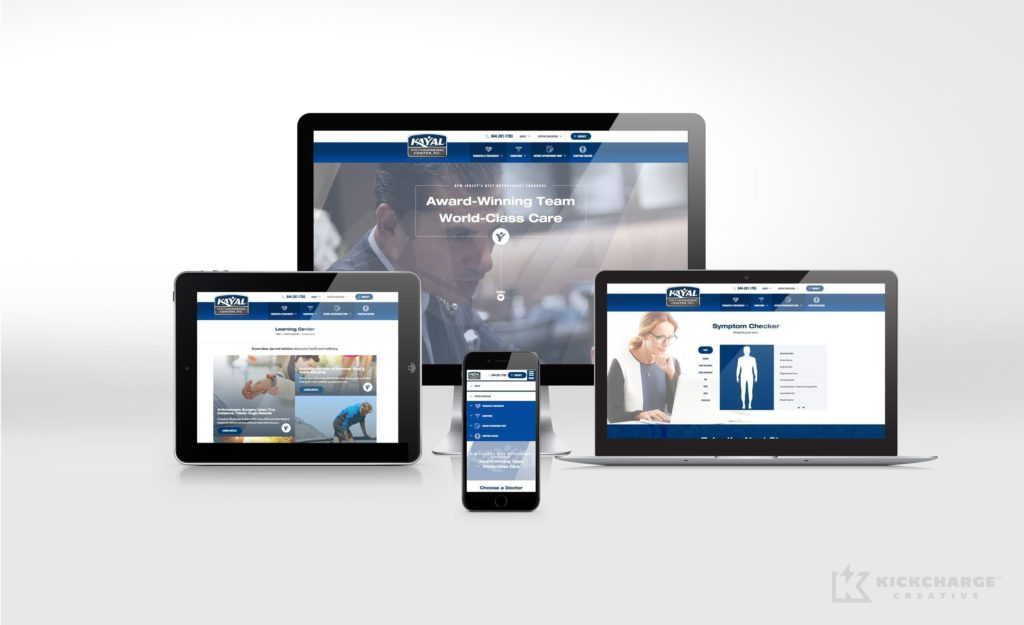 Responsive website design and development for Kayal Orthopaedic Center in NJ.