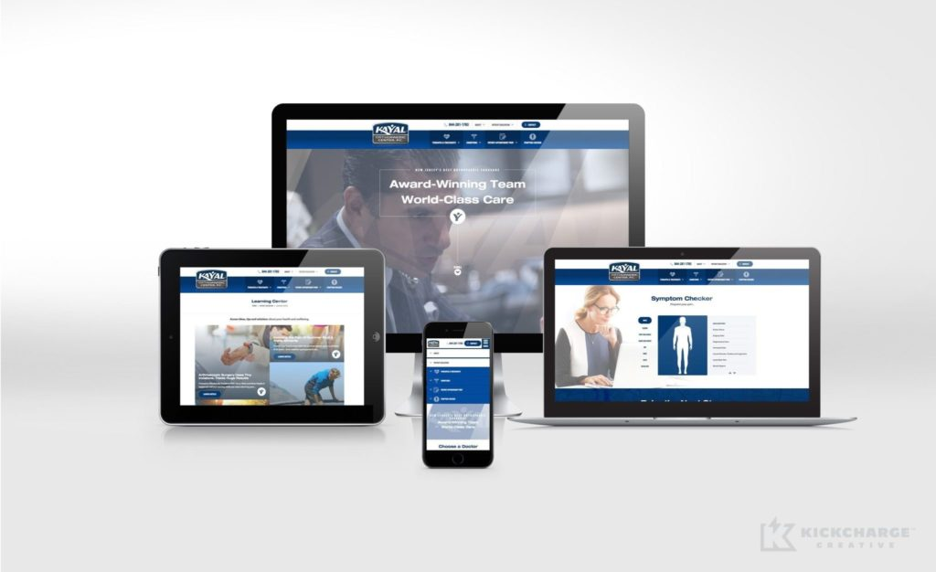 kayal orthopaedic center website design