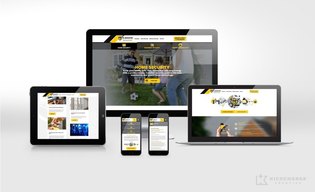 Responsive website design and development for A.C. Daughtry Security Systems.