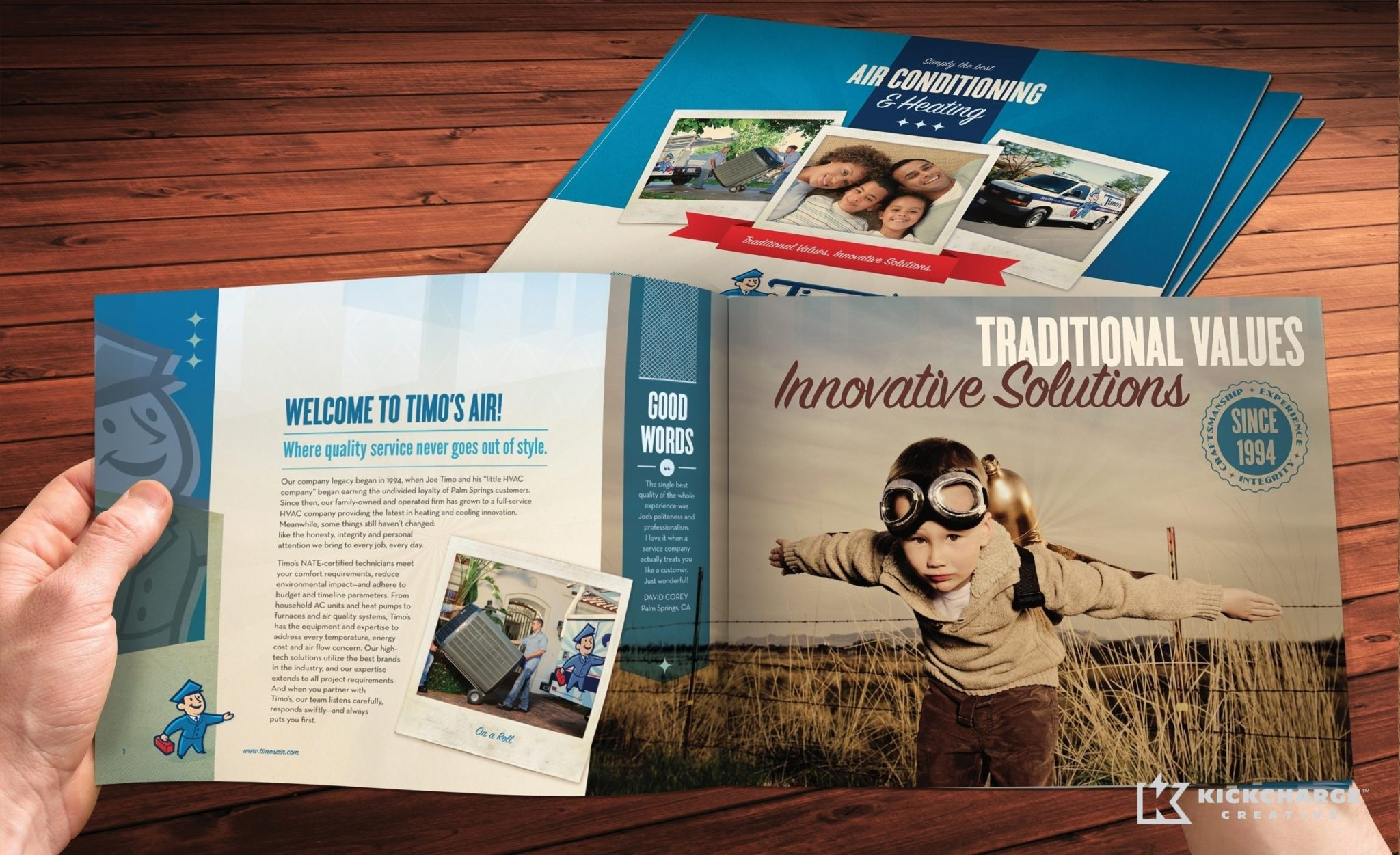 Collateral and brochure design, copywriting and printing for capabilities brochure.