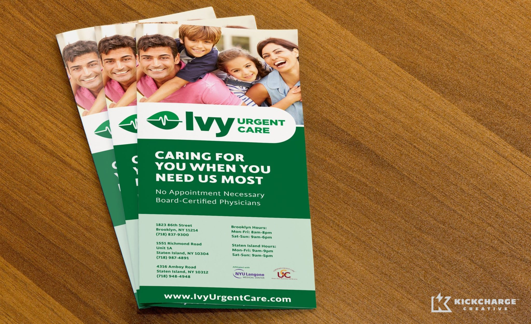 Brochure design for Ivy Urgent Care.