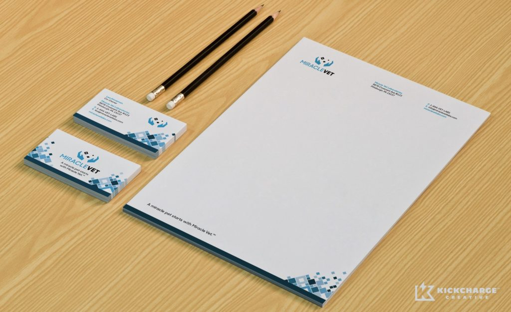 Stationery design for MiracleVet.