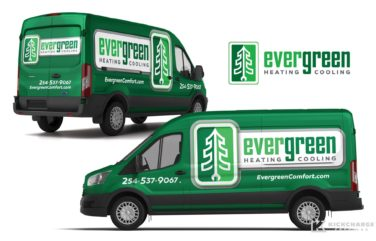 Vehicle wrap design for this Waco, TX-based HVAC company.