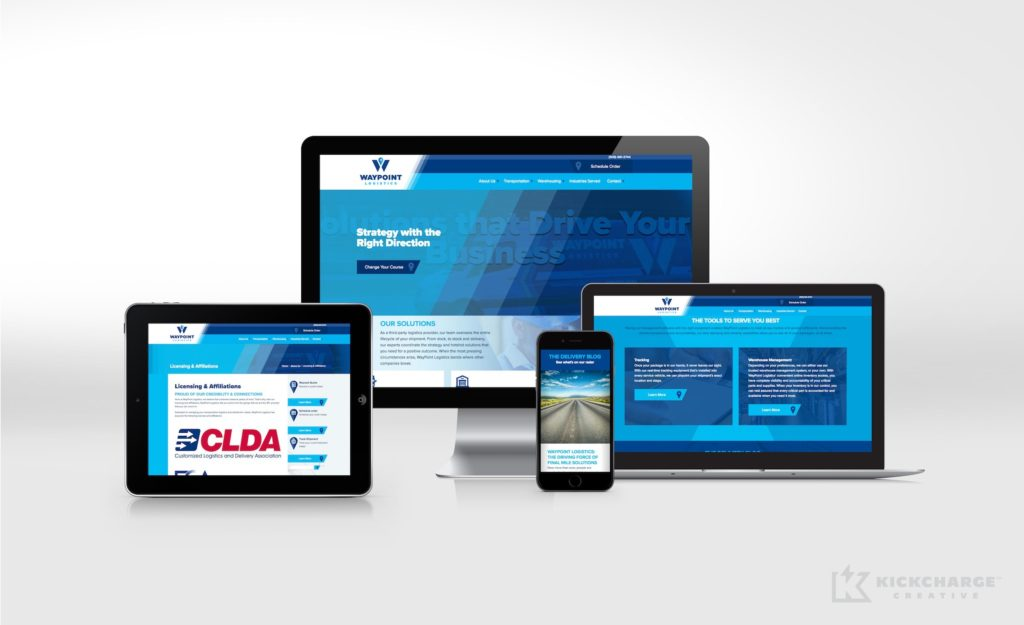 Web design for Waypoint Logistics, a storage & distribution company located in Illinois.