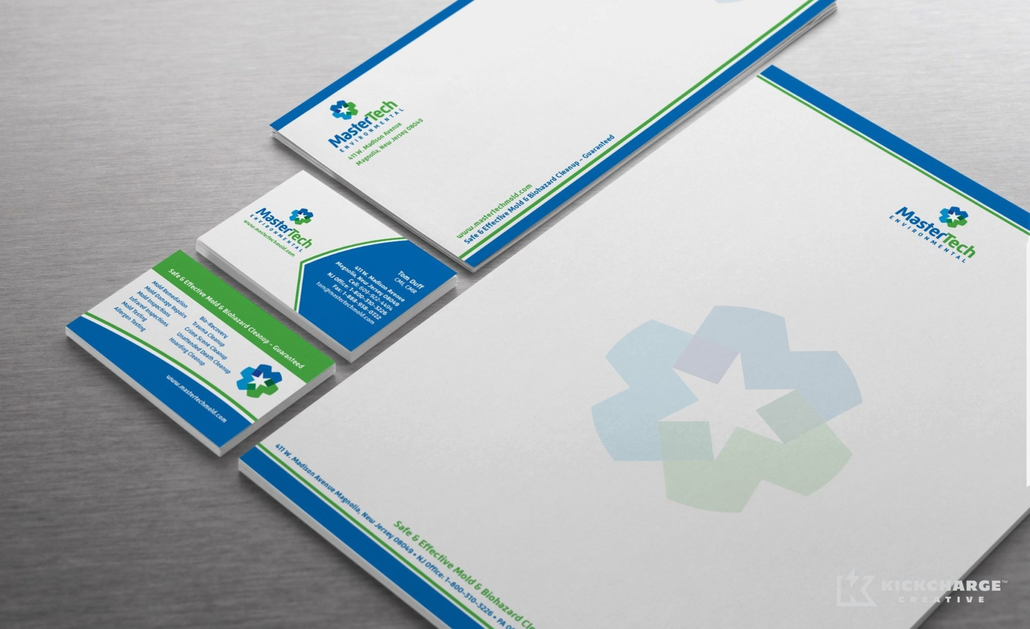 Stationery design for a mold remediation company in NJ.