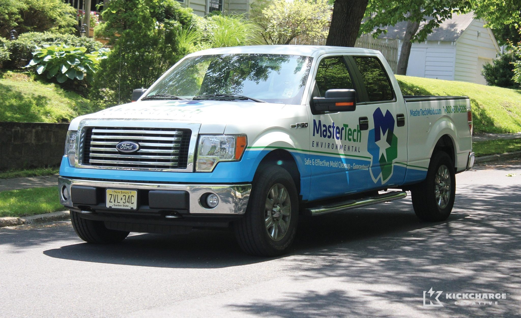 Truck wrap design for a mold remediation company in NJ.