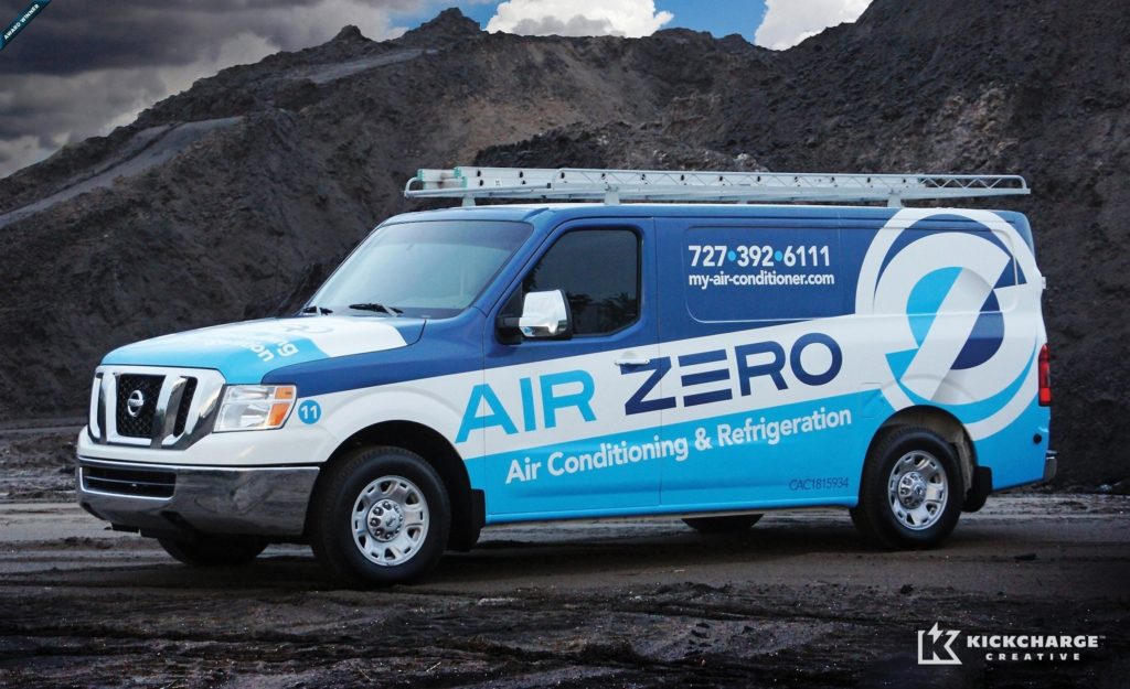 Award-winning vehicle advertising and fleet design - HVACR Magazine Tops in Trucks Winner